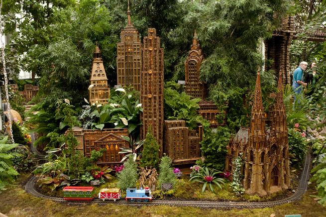 Botantical Gardens New York Train Show