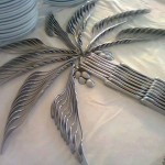 Silverware Palm Tree Centerpiece