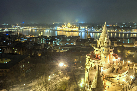 Budapest Fisherman's Bastion and Parliament