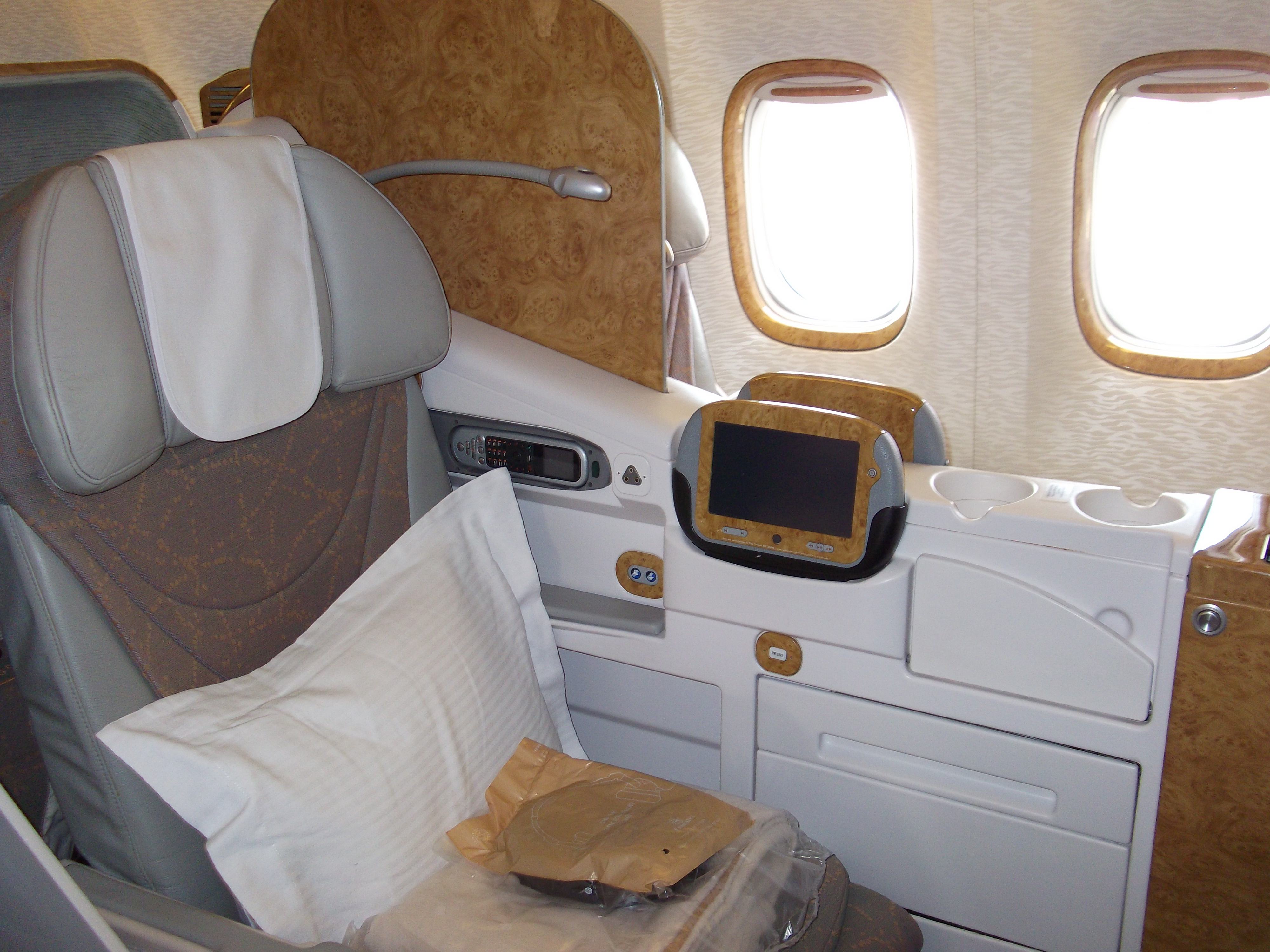 Business Class- Emirates Airline