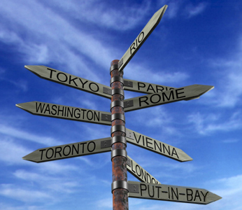 Destination Sign Post