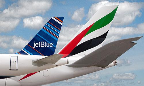 Emirates and JetBlue