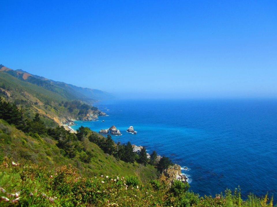 View From Pacific Coast Highway California