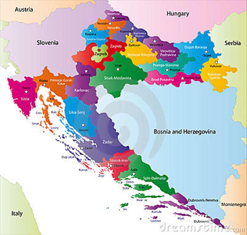 Croatia Regional Map