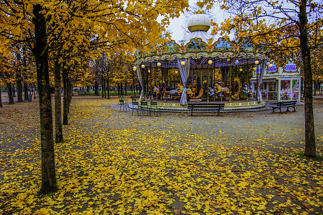 Tuileries Garden Paris in Fall