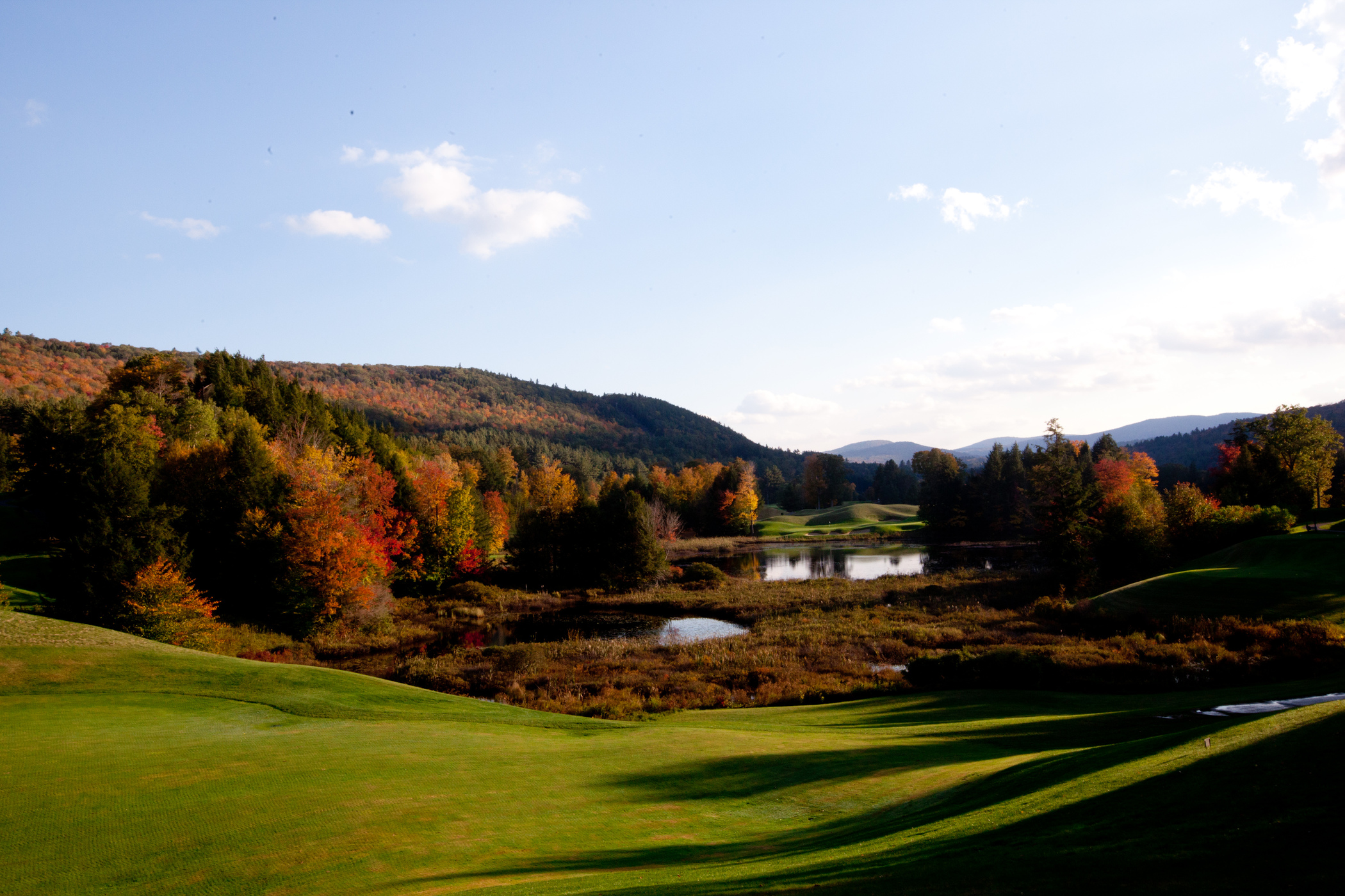 Vier from Golf course  at Okemo Mountain