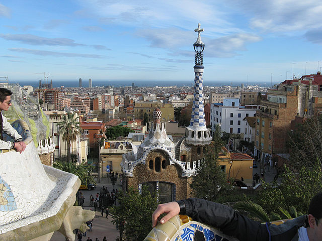 View from Parc Guell Barcelona