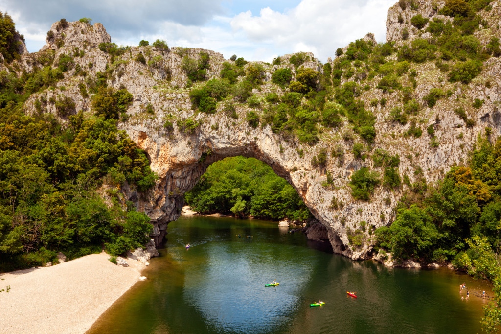 Canoeing in Ardeche France