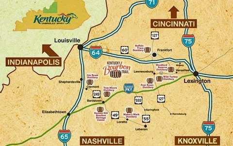 Bourbon Trail Map Kentucky