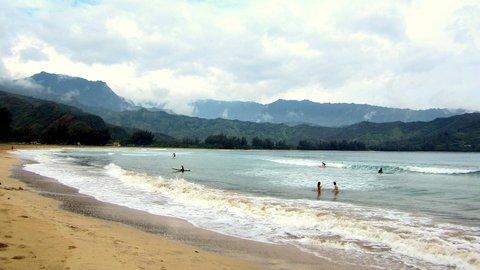 Hanalei Hawaii Surfing