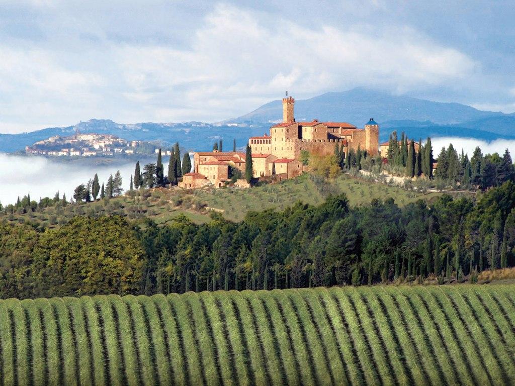 Montalcino Italy, Castle Banfi-Il-Borgo