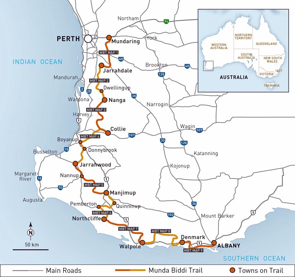 Munda Biddi Trail Australia