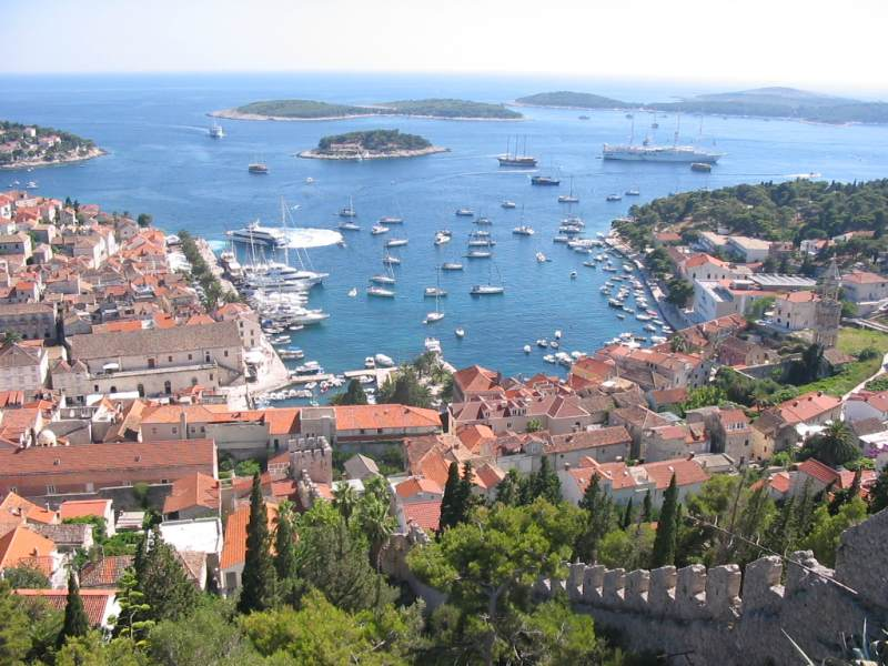 Hvar Harbor Croatia