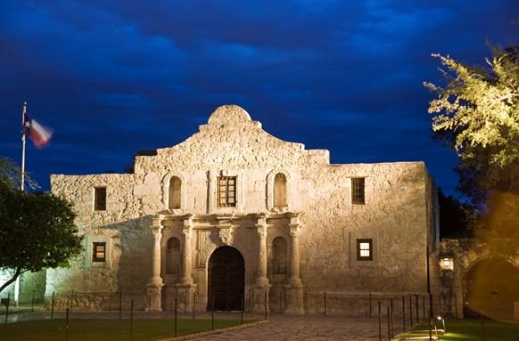 Alamo at Dusk, San Antonio, Texas