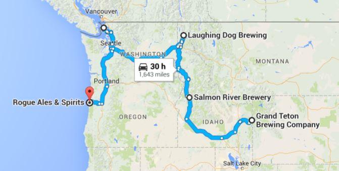 Northwest Scenic Brew Trail