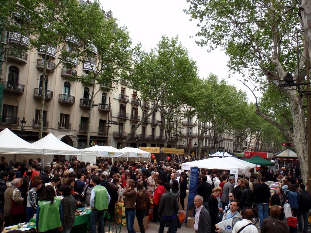Las Rambles Crowds Barcelona