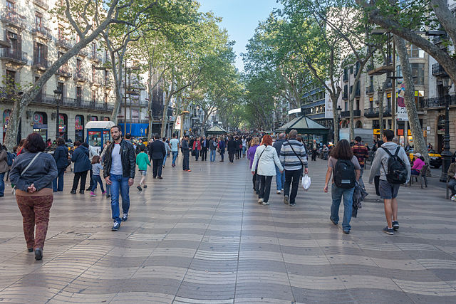 The Ramblas Barcelona Spain