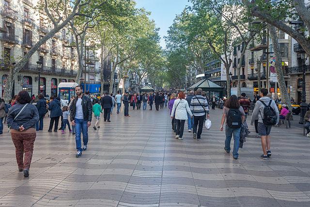 The Ramblas Barcelona Spain