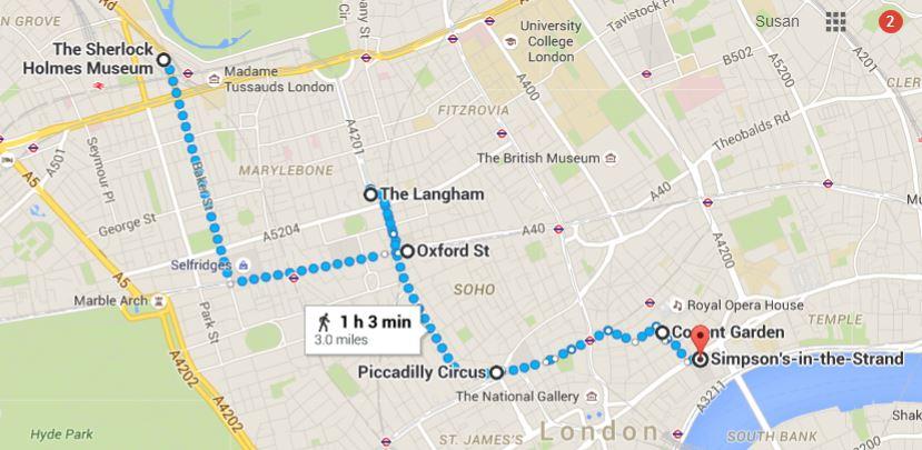 Sherlock Holmes Waking Tour of London