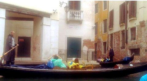 Venice Gondola in Rain