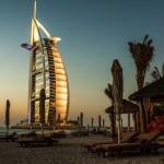 Dubai Beach Hotel Shot