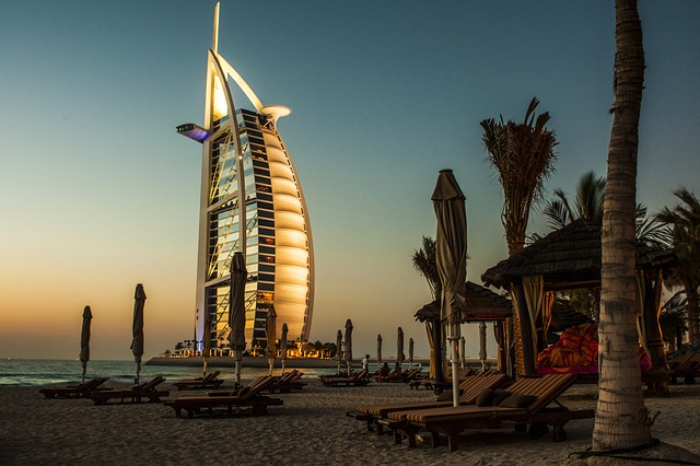 Dubai Beach Hotel Shot