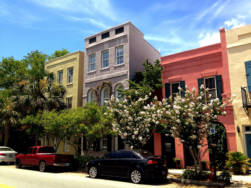 Charleston SC pastel homes