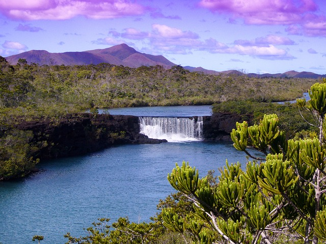 New Caledonia waterfall
