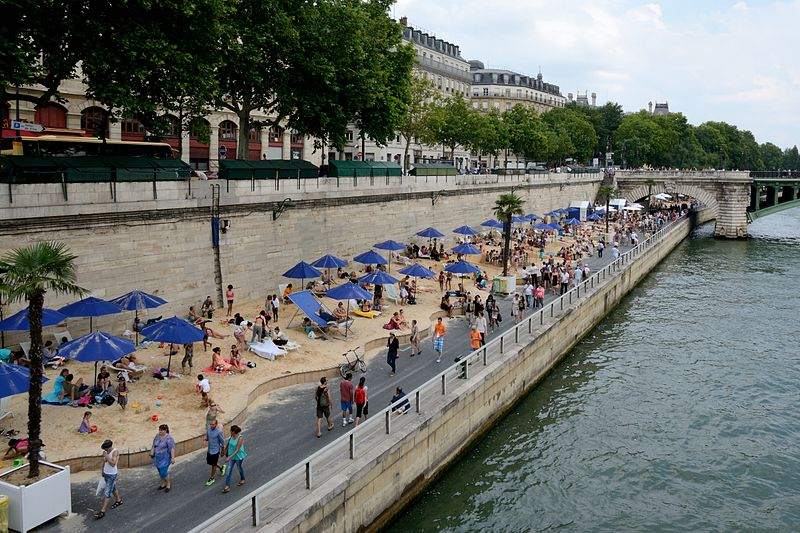 Paris Plages Summer Beach on Seine