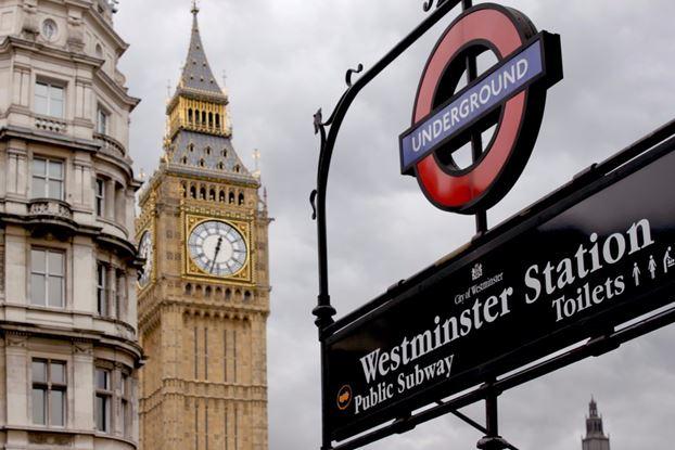 London Westminster Station and Big Ben