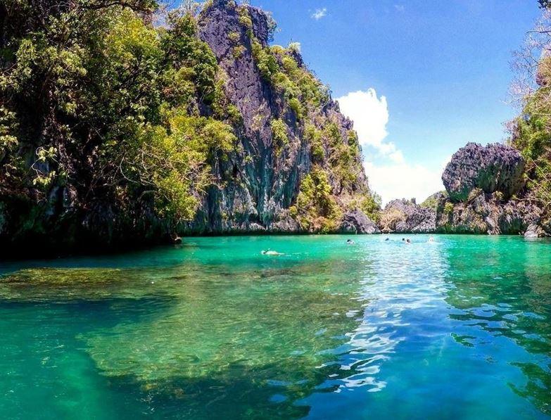 Palawan Island Philippines Small Lagoon