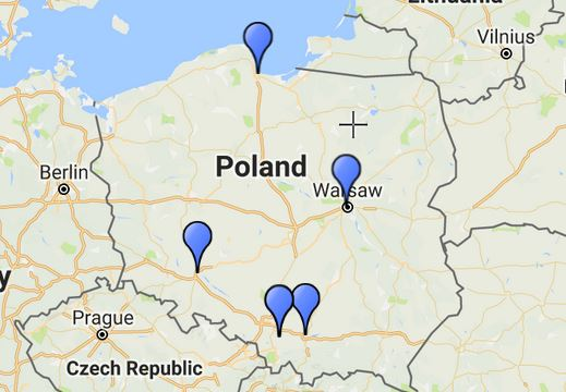 Poland By Train Map