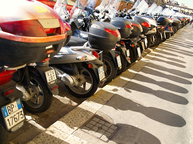 Vespa Mopeds in Italy