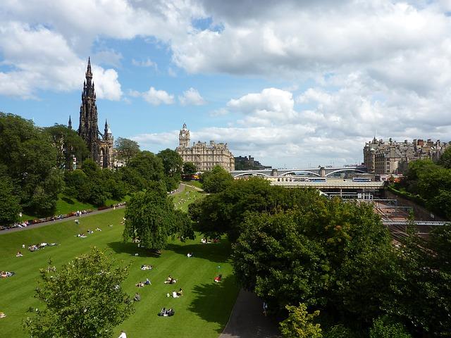 Princess Street Garens Edinburgh Scotland