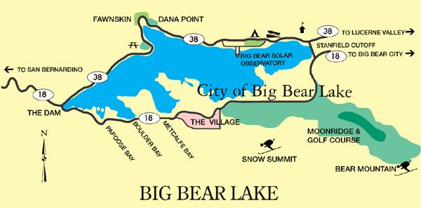 Big Bear Lake California Map
