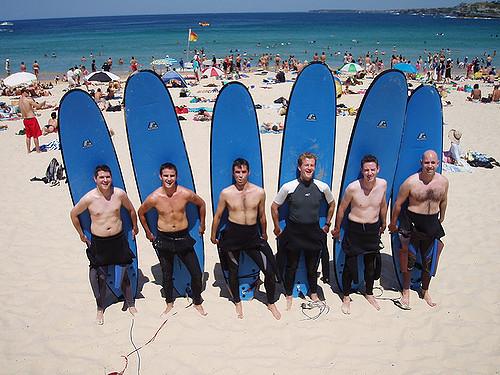 Surfing at Bondi Beach Australia