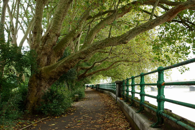 Thames Path at Fulham England