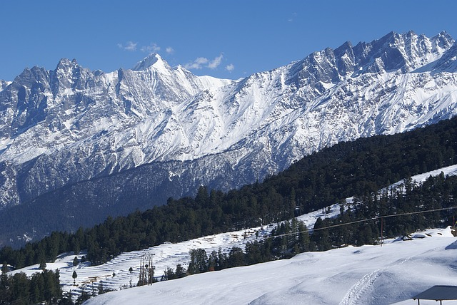 Auli Snow Covered Hills, India