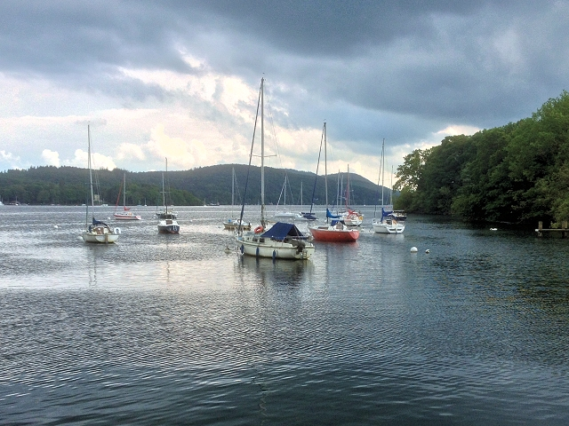 Sail Boats on Lake Windermere England