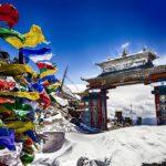 Tawang Gate in winter, India
