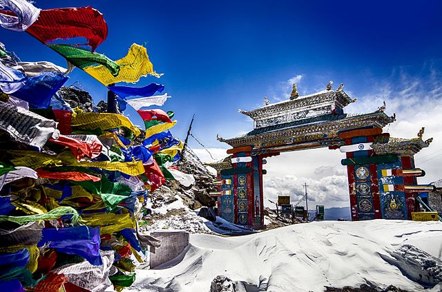 Tawang Gate in winter, India