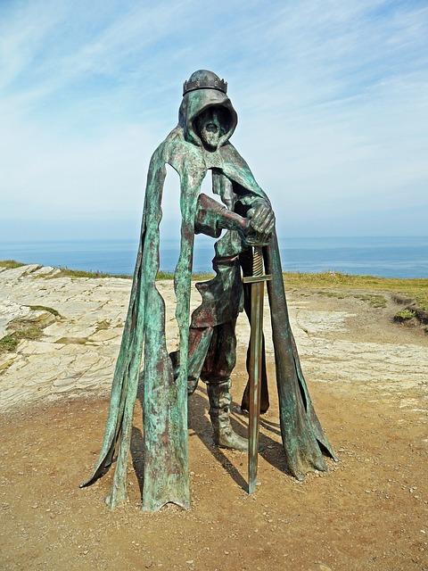King Arthur Sculputue Cornwall England
