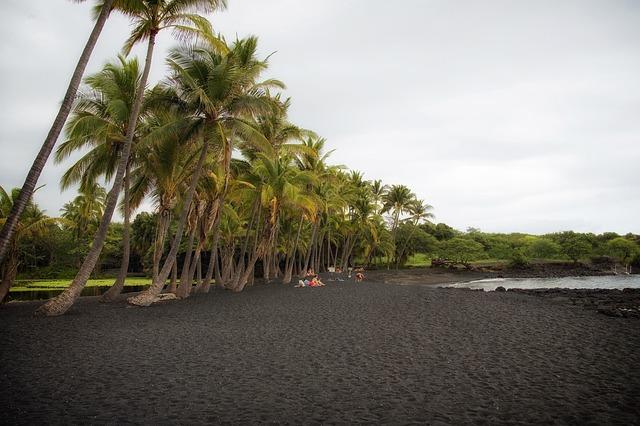Big Island Hawaii, Black Sand Beach