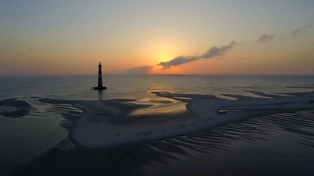 Folly Beach at sunrise