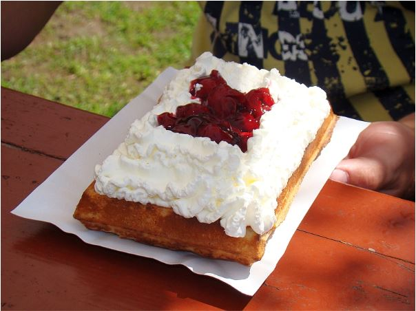 Waffles with Cream Poland