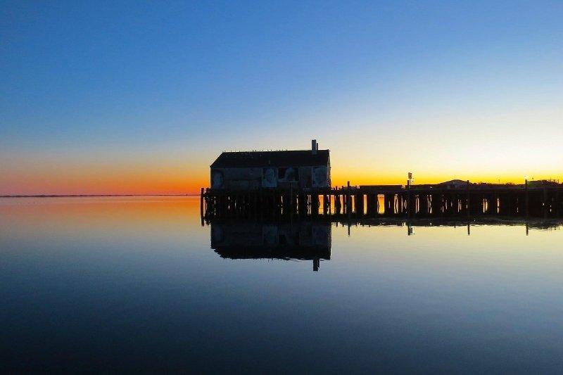 Cape Cod Pier at Sunset