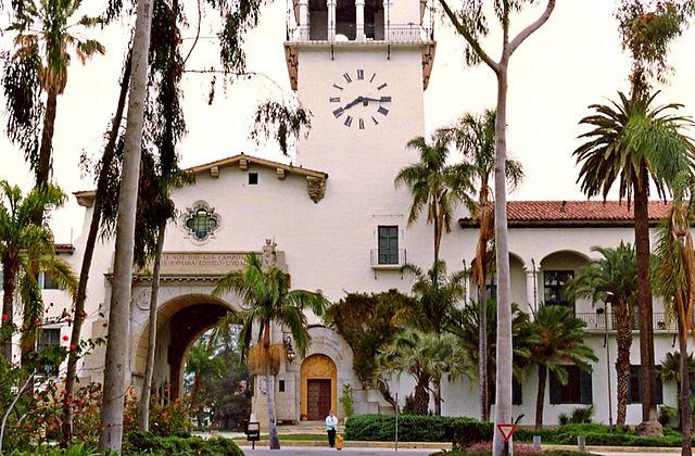 Santa Barbara Country Courthouse via Wikimedia Commons