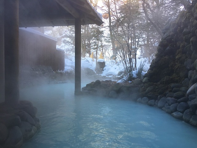 Hot Springs in Winter, Japan
