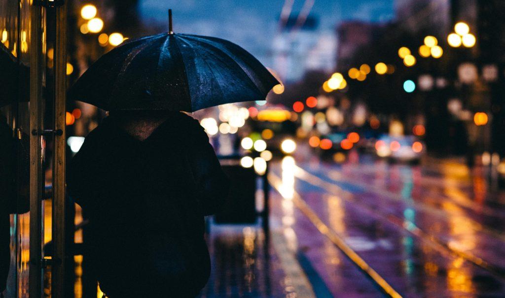 rainy night reflections