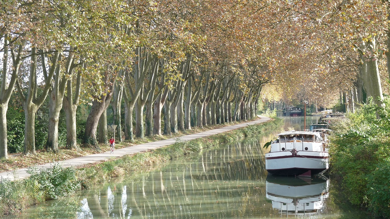 Barge on Canal Du Midi France